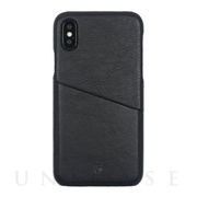 【iPhoneXS/X ケース】ANTIQUE POCKET (Black)