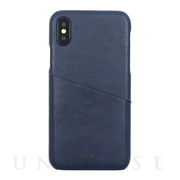 【iPhoneXS/X ケース】ANTIQUE POCKET (Navy)