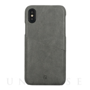 【iPhoneXS/X ケース】ANTIQUE POCKET (Grey)