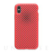 【iPhoneXS/X ケース】Mesh Case (Bright Red)