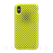 【iPhoneXS/X ケース】Mesh Case (Lime Yellow)