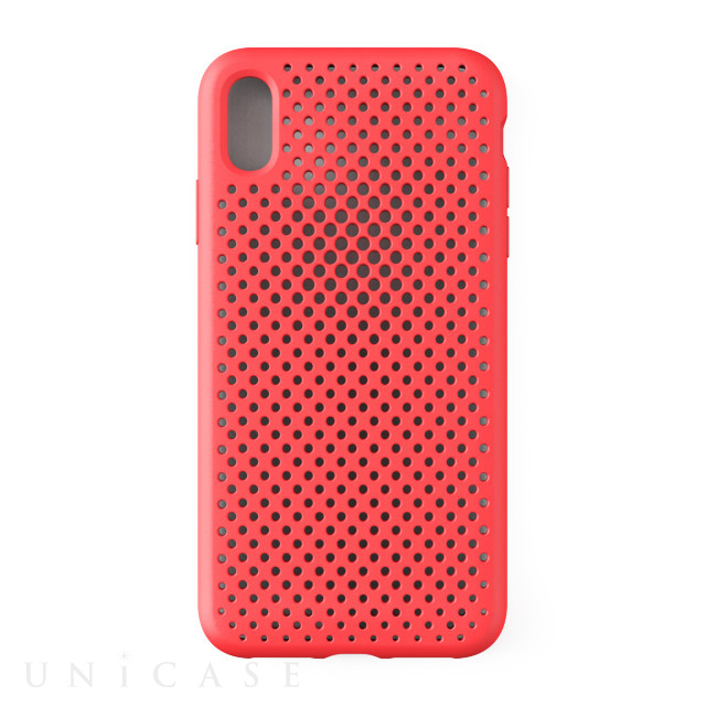 【iPhoneXS Max ケース】Mesh Case (Bright Red)