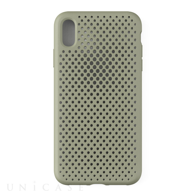【iPhoneXS Max ケース】Mesh Case (Clay Green)