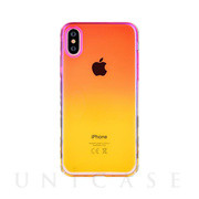 【iPhoneXS/X ケース】Aurora Series Case (Pink/Yellow)