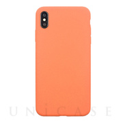 【iPhoneXS Max ケース】EXTRA SLIM SILICONE CASE (Peach)