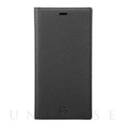 【iPhoneXS Max ケース】Shrunken-Calf Leather Book Case (Black)