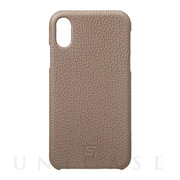 【iPhoneXR ケース】Shrunken-Calf Leather Shell Case (Taupe)