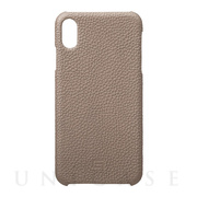 【iPhoneXS Max ケース】Shrunken-Calf Leather Shell Case (Taupe)