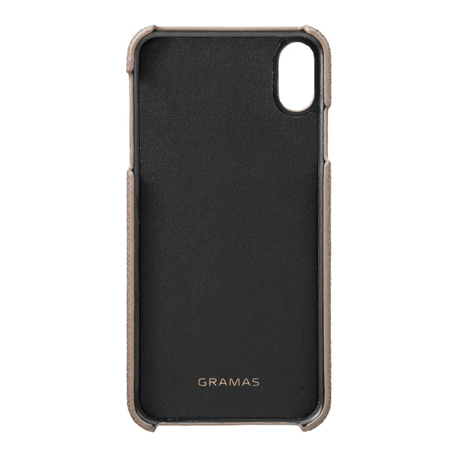 【iPhoneXS Max ケース】Shrunken-Calf Leather Shell Case (Taupe)サブ画像