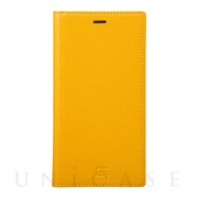 【iPhoneXR ケース】Italian Genuine Leather Book Case (Yellow)