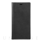 【iPhoneXS Max ケース】Italian Genuine Leather Book Case (Black)