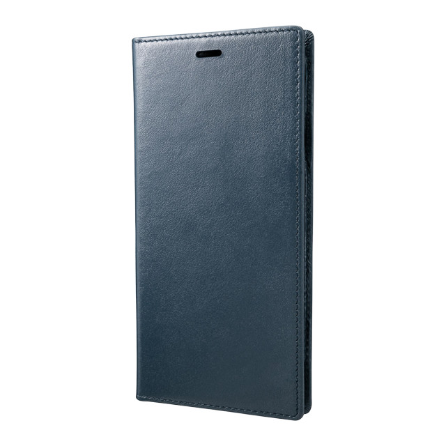 【iPhoneXS Max ケース】Italian Genuine Leather Book Case (Navy)