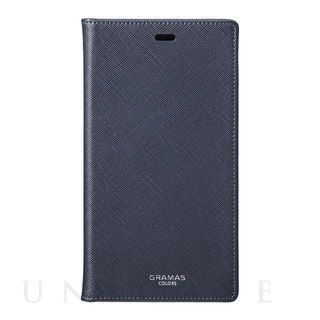 "【iPhoneXR ケース】""EURO Passione"" PU Leather Book Case (NVY)"
