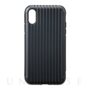 "【iPhoneXR ケース】""Rib"" Hybrid Shell case (Black)"