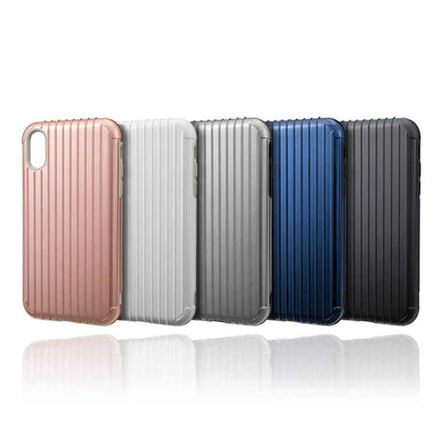 "【iPhoneXR ケース】""Rib"" Hybrid Shell case (Rose Gold)サブ画像"