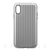 "【iPhoneXR ケース】""Rib"" Hybrid Shell case (Gray)"
