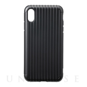 "【iPhoneXS Max ケース】""Rib"" Hybrid Shell case (Black)"