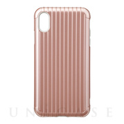 "【iPhoneXS Max ケース】""Rib"" Hybrid Shell case (Rose Gold)"