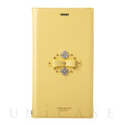 "【iPhoneXR ケース】""Sweet"" PU Leather Book Case (Yellow)"
