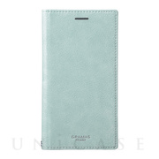 "【iPhoneXS/X ケース】""Colo"" Book PU Leather Case (Light Blue)"