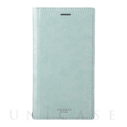 "【iPhoneXR ケース】""Colo"" Book PU Leather Case (Light Blue)"