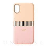 "【iPhoneXS/X ケース】""Rel"" Hybrid Shell Case (Pink)"