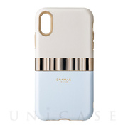 "【iPhoneXR ケース】""Rel"" Hybrid Shell Case (Light Blue)"