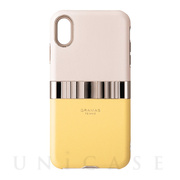"【iPhoneXS Max ケース】""Rel"" Hybrid Shell Case (Yellow)"