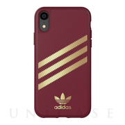 【iPhoneXR ケース】Moulded Case SAMBA (Burgandy/Gold)