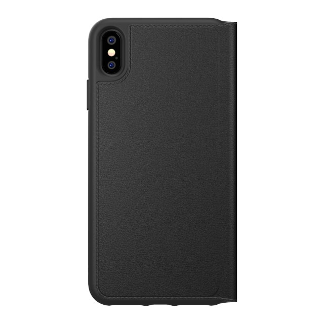 【iPhoneXS Max ケース】TPU Booklet Case BASIC Black/White