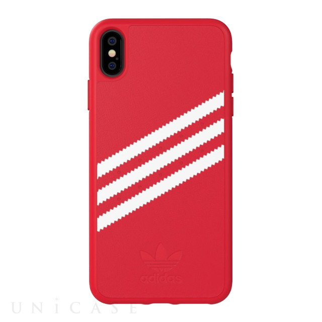 【iPhoneXS Max ケース】Moulded case Royal Red/White
