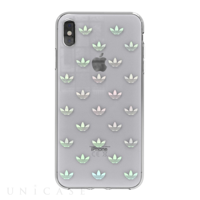 【iPhoneXS Max ケース】Clear Case (Trefoils colorful logo)