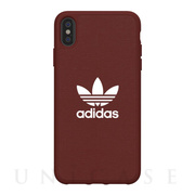 【iPhoneXS Max ケース】adicolor Moulded Case (Maroon)