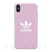 【iPhoneXS Max ケース】adicolor Moulded Case (Clear Pink)