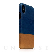 【iPhoneXS/X ケース】Tempomata Leather Back case (BL × TA)