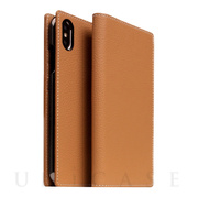 【iPhoneXS/X ケース】Full Grain Leather Case (Caramel Cream)