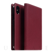 【iPhoneXS/X ケース】Full Grain Leather Case (Burgundy Rose)
