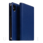 【iPhoneXS/X ケース】Full Grain Leather Case (Navy Blue)