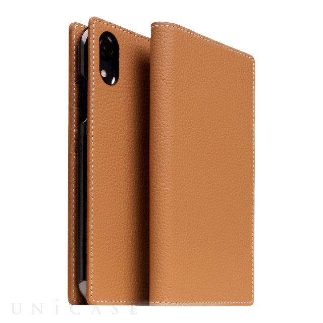 【iPhoneXR ケース】Full Grain Leather Case (Caramel Cream)