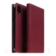 【iPhoneXR ケース】Full Grain Leather Case (Burgundy Rose)