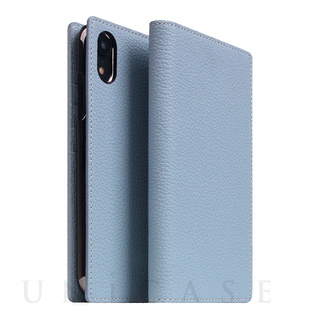 11804574a3 【iPhoneXR ケース】Full Grain Leather Case (Mint Blue)