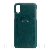 【iPhoneXR ケース】Minerva Box Leather Back Case (ブルー)