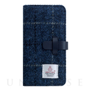 【iPhoneXR ケース】Harris Tweed Diary (ネイビー)