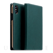 【iPhoneXS Max ケース】Minerva Box Leather Case (ブルー)