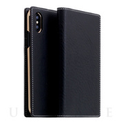 【iPhoneXS Max ケース】Minerva Box Leather Case (ブラック)