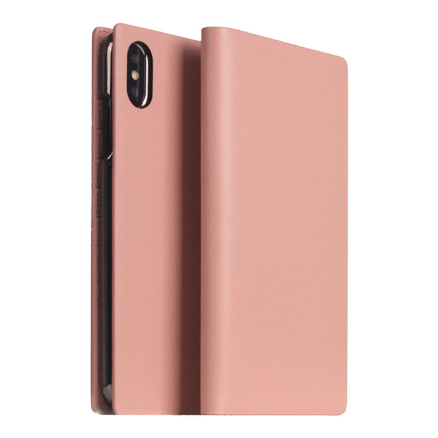 【iPhoneXS Max ケース】Calf Skin Leather Diary (ベビーピンク)サブ画像