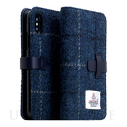 【iPhoneXS Max ケース】Harris Tweed Diary (ネイビー)