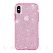【iPhoneXS/X ケース】Sheer Crystal (Blush)