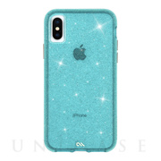 【iPhoneXS/X ケース】Sheer Crystal (Teal)