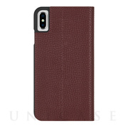 【iPhoneXS Max ケース】Barely There Folio (Brown)